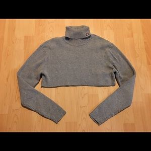 Ralph Lauren Tops - Women's Polo Jeans Gray Turtleneck Crop Top Sz M